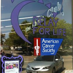 Love that both the Relay For Life logo and the event poster are prominently featured in this Paint Your Town Purple window from Ripon, CA!