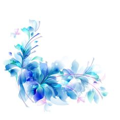 Blue Flower clipart decorative Pencil and in color blue flower clipart decorative Blue Orchids, Blue Roses, Blue Flowers, Paper Flowers, Flower Boarders, Flower Clipart, Elegant Flowers, Abstract Flowers, Digital Illustration