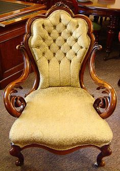 Victorian Grandfather Chair