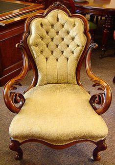 ~ English Walnut Open Arm Grandfather Chair...circa 1870 ~