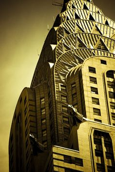 chrystler building, façade, manhattan, new york city by François Hogue, via Flickr