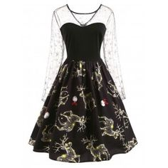 New dress pattern long sleeve vintage fashion ideas Vintage Christmas Dress, 1950s Christmas, Lace Mesh Dress, New Dress Pattern, Dress Brokat, Vintage Dresses 50s, 50s Vintage, Motif Vintage, 1950s Dresses