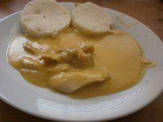 Expresní svíčková na smetaně recept - TopRecepty.cz Czech Recipes, Ethnic Recipes, Cooking Recipes, Pudding, Lunch, Baking, Dinner, Desserts, Eastern Europe