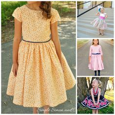 Simple Simon and Company - A Baby Doll Dress & How to Add Tulle to the Hem of a Dress or Skirt