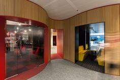 APTO Architects, interior design of Schiphol Area Development Company #round #flow #modern #design #office #interior