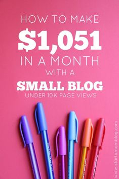 How to make money with a small blog with little traffic. This is amazing! I can't wait to implement these tips and I know I'll be making a few hundred next month! This normal mom blogs about her kids and life and makes over $1,000 every month! Amazing! You can make money from home too from blogging! Awesome, actionable advice!!