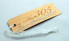 wood hang tag