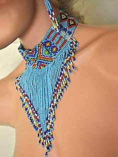 native american make up | Native American Beaded Choker Earring Set - Accessories and Makeup ...