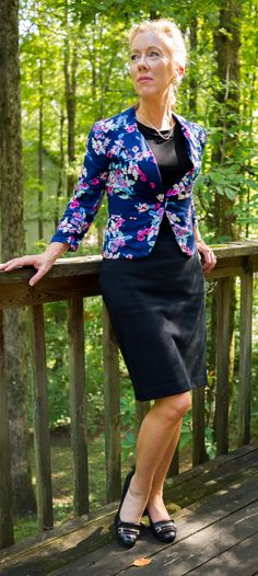4942f5b5d3c832 What the Wroot Wore Wednesday  Floral Jacket by Candie s