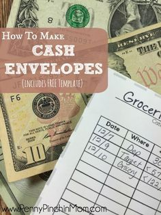 Learn how to use the cash envelope system and find a printable cash envelope template to help you get started using this budget method. Money Envelope System, Cash Envelopes, Budget Envelopes, Financial Tips, Financial Peace, Financial Planning, Budgeting Finances, Budgeting Tips, Save Your Money