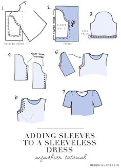 DIY FRIDAY: ADDING SLEEVES TO A SLEEVELESS DRESS (REFASHION TUTORIAL) Merrick's Art // Style + Sewing for the Everyday Girl: