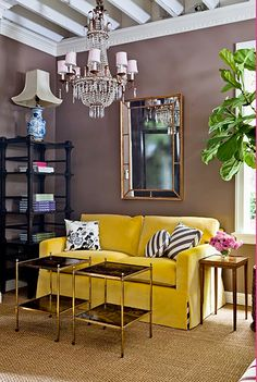 living room. love the color on the walls!