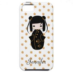 Personalized Kokeshi Doll, iPhone 5 Case  http://www.zazzle.com/personalized_kokeshi_doll_iphone_case-179688709058633363