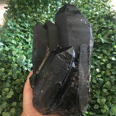 3389g   Rare natural black quartz crystal cluster specimens 10-8-1