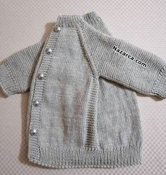 easy-to-grauer Nebel-Netting-Baby-to-Hirka anlatimli easy-to-grauer Nebel-Netting-Baby-to-Hirka anlatimli Baby Cardigan, Knit Baby Dress, Baby Pullover, Crochet Cardigan, Baby Knitting Patterns, Baby Clothes Patterns, Clothing Patterns, Knitted Baby Blankets, Baby Blanket Crochet