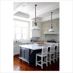 COUNTRY+pendant+lighting+for+kitchen | GAP Interiors - Bar stools in country kitchen diner - Picture library ...