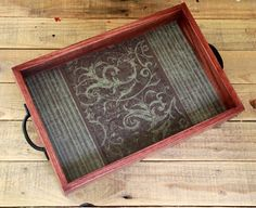 Decorative Ottoman Tray Amusing Serving Tray Ottoman Tray Coffee Table Decor Wood Brown Floral Design Ideas