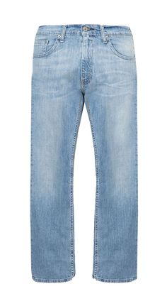 505 Regular Fit Seascape Jeans by Levis. Light blue denim with front button and front zipper, stitching details, belt loops, washed accent, regular fit, pair this light blue denim with white shirt for casual style. http://www.zocko.com/z/JJVoO