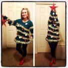 pretty homemade Christmas sweater