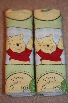Pooh Bear Stroller/ Car Seat Strap Covers $9.50