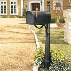 Curbside Mailbox Post