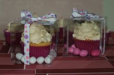 cupcakes as party favors! so cute!