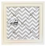Inspired by the newly popular chevron pattern, our Zig Zag Baby Crib Bedding will give your nursery a modern, clean look.  Crisp white & gray lends a fresh feel to your new babys room.  Our grey baby bedding can work for a boy or a girl%21  Zig Zag Baby two piece set includes a crib sheet and skirt. The three piece set includes bumper, sheet and skirt. The bumper is made from White Pique with solid gray ties and cording, and is slip covered for easy cleaning.   The sheet is made fro