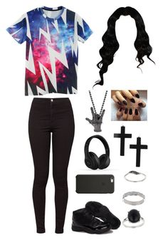 """""""(^ _ ^)/(^_−)☆"""" by sapphire-jack ❤ liked on Polyvore"""