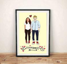 Custom Couple illustration  Digital art  Instant by CosynestArt