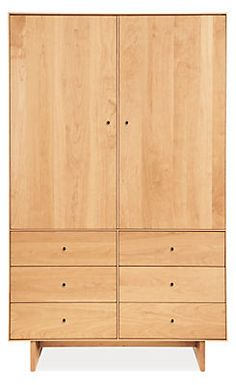 Hudson Armoires with Wood Base - Armoires - Bedroom - Room & Board available if order by june