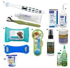 Dental Products for Pets! They have teeth too. Brush them. My dog lovess it. Ive been doing it since he was about 10 weeks..our cats...not so much..i just pay to have them cleaned!
