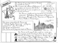 cute printable one-page overview of France (in French) French Teacher, Teaching French, French For Beginners, Teaching Literature, Cycle 3, France Europe, French Lessons, Continents, Homeschool