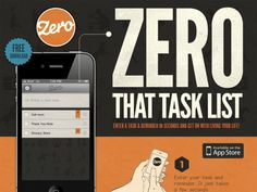 Zero - iPhone To-Dos and Reminders, Super easy to use, SYNC with iCal get reminders, add Notes.