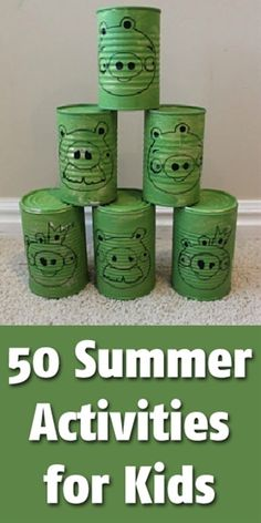 50 Sensational Summer Crafts for Kids - Click image to find more DIY & Crafts Pinterest pins