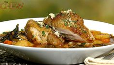 Michael Symon's Braised Turkey Thighs with Spicy Kale #thechew