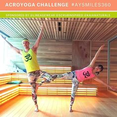 Day 1/5 of the #AYSmiles360 Challenge is Tree Pose. This is a great pose to test our concentration and balance so we thought adding a counterbalance would add a cool partner aspect.  Remember that we're looking for your ideas on this one! Be bold be creative and above all have fun!!! It's not too late to join the challenge! Check out our earlier posts for more details.  A HUGE thank you to our wonderful sponsors @lineagewear @scrubinspired and @kaianaturals.