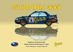 Print on Canvas Subaru Impreza 555 1995 McRae / Ringer WC Yellow 80 x 60 Colin Mcrae, Jdm Wallpaper, Motorcycle Design, Jdm Cars, Subaru Impreza, Decals, Canvas Prints, Club, Stickers