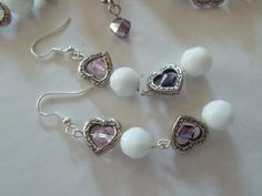 Necklace and Earring set  All Heart by TheBarefootBombshell, $40.00