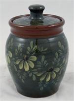 Eldreth Pottery Redware Sugar Bowl