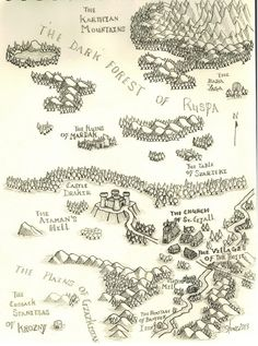 Nice map from The Stonegiant's Cave. It has a proper Tolkien feel.