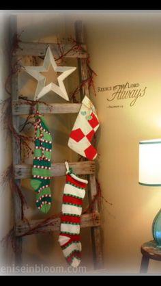 Stocking Hanger / Primitive / Ladder