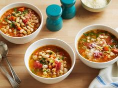 Recipe of the Day: From-the-Pantry Pasta e Fagioli         Sink a spoon into a bright, chunky soup brimming with white beans, tomatoes, veggies and pasta.