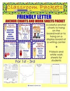 friendly letter anchor chart i pinned it and then i did 1000 images about written language on writing 794