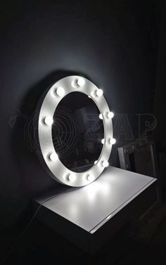Hand made LED make-up mirror from VALENTINE ROF round series :)  10 LED light bulbs and round shape :)  Glass diameter - 60cm Classy, isn't it? ;) Find it on our shop :  http://zapproject.pl/okr%C4%85g%C5%82e/222-lustro-o%C5%9Bwietlone-valentine-60cm-rof-10-okr%C4%85g%C5%82e.html   Ręcznie wykonane lustro do makijażu LED z serii VALENTINE ROF  10 żarówek LED i kształt koła. Średnica tafli - 60cm. Klasa sama w sobie ;) Znajdziecie je na :  http://zapproject.pl/glowna/245-lus