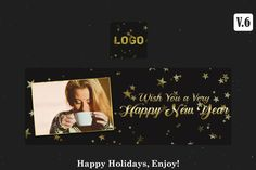 Free Happy New Year Facebook Timeline Cover V.6 is Fully editable and all layers are Organized in PSD Template. Easy to edit. Download & Enjoy! Creative Facebook Cover, Facebook Timeline Covers, Happy New Year Facebook, Free News, Psd Templates, Christmas And New Year, Happy Holidays, Layers, Easy