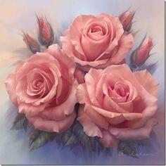 розы рисунок на шелке - Поиск в Google