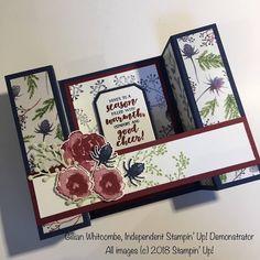 Stampin Up Christmas, Christmas Greetings, Christmas Cards, Holiday Cards, 3d Birthday Card, Handmade Birthday Cards, Fancy Fold Cards, Folded Cards, Bridge Card
