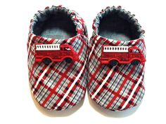 Fire Truck Baby Boy Shoes. $22.00, via Etsy.