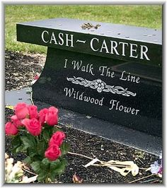 Bench near the gravesites of Johnny Cash and June Carter Cash at Hendersonville Memory Gardens, Wildwood Flower was the last solo album by June Carter Cash in 2003.It was released 4 months after her death, only a few days prior to Johnnys death. It was produced by son John Carter Cash by Dualtone Studio
