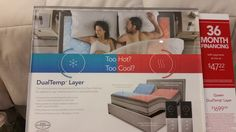 Tested out the DualTemp mattress topper @ Sleep Number store for a #FreeSample pillow!  Loved it!  So comfy and love that you can have a different temp setting then someone else!